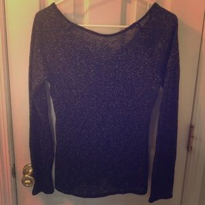 Shimmery long sleeve shirt